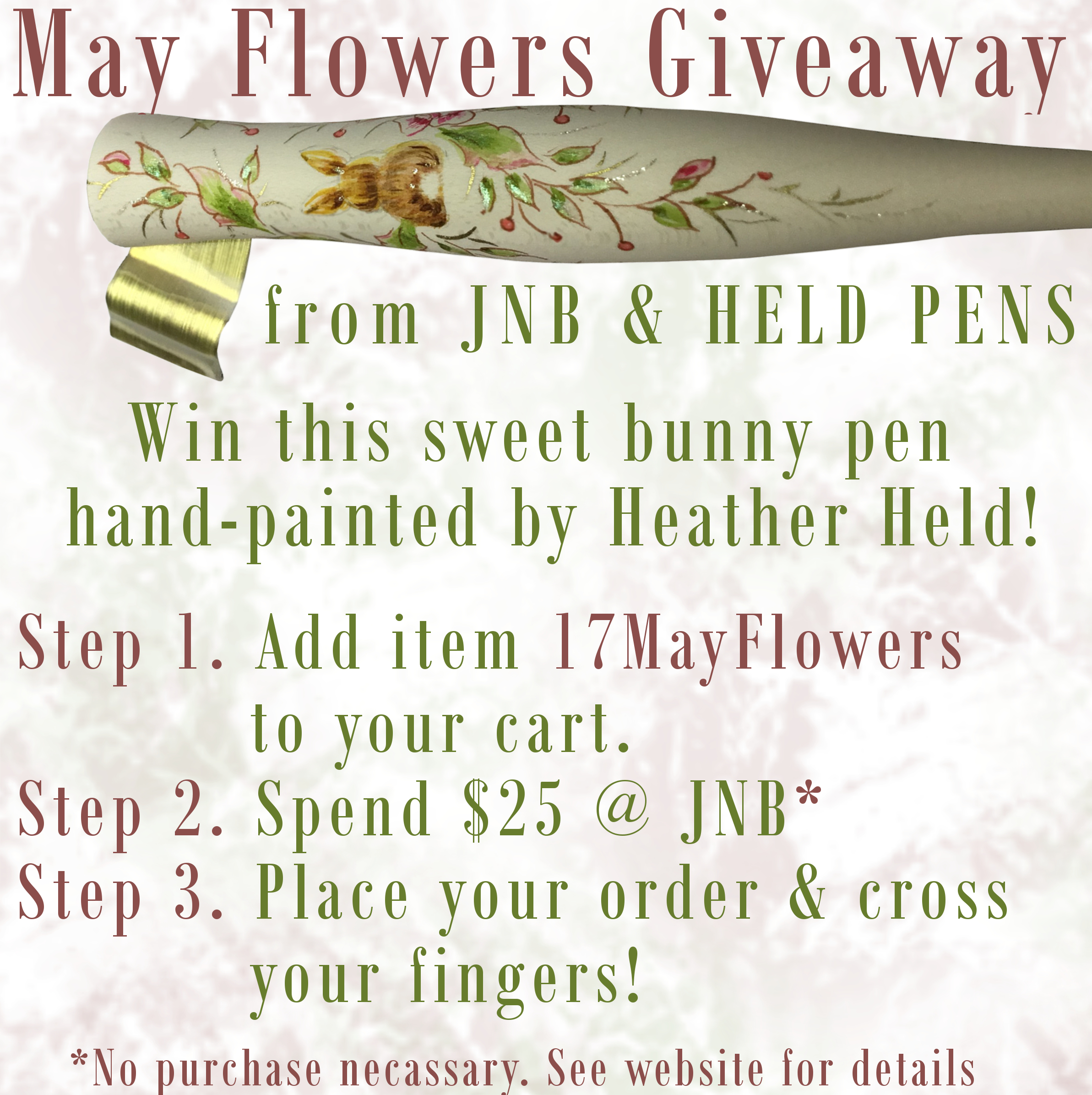 May Flowers Giveaway with Held Pens | John Neal Bookseller Blog